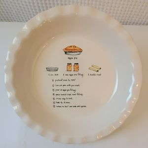 RAE DUNN Ceramic Baking Pan with Apple Pie Recipe
